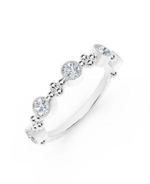 Forevermark Tribute Collection Diamond (1/2 ct. t.w.) Ring With Beaded Detail In 18 Yellow