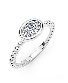 Tribute™ Collection Oval Diamond (1/3 ct. t.w.)  in 18k Yellow, White and Rose Gold