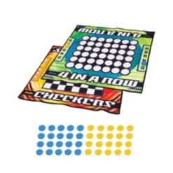 Franklin Sports Checkers and Four-in-a-Row Mat