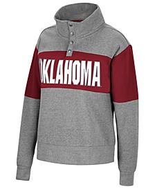 Women's Oklahoma Sooners Colorblock Half-Snap Sweatshirt
