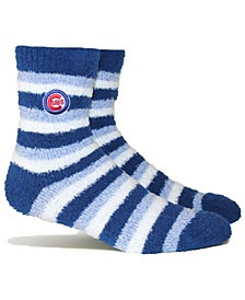 Chicago Cubs Fuzzy Steps Socks