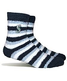 Seattle Mariners Fuzzy Steps Socks