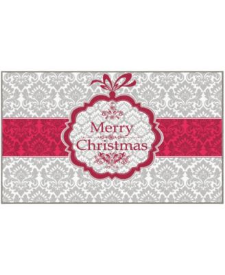 Christmas Damask Accent Rug, 18
