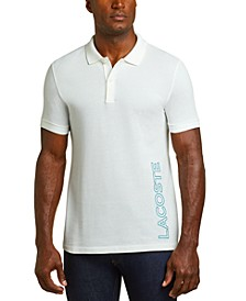 Men's Motion Regular-Fit Reflective Logo-Print Piqué Polo Shirt