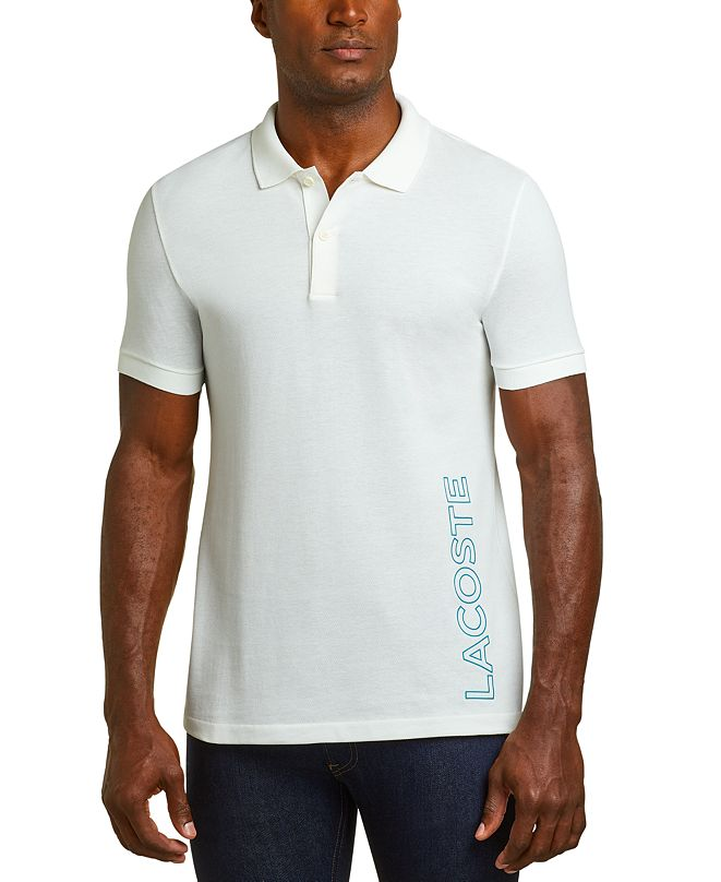 Lacoste Men's Motion Regular-Fit Reflective Logo-Print Piqué Polo Shirt