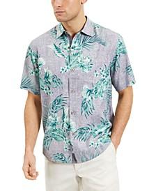 Men's Goa Gardens Classic-Fit Floral-Print Silk Camp Shirt