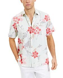 Men's Burma Botanical Classic-Fit IslandZone Moisture-Wicking Temperature-Regulating Tropical-Print Camp Shirt