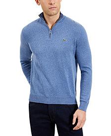 Lacoste Men's Quarter Zip Cotton Sweater