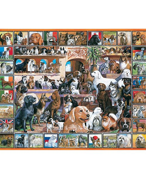 White Mountain Puzzles World of Dogs 1000 Piece Jigsaw Puzzle