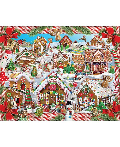 White Mountain Puzzles Gingerbread Village 1000 Piece Jigsaw Puzzle