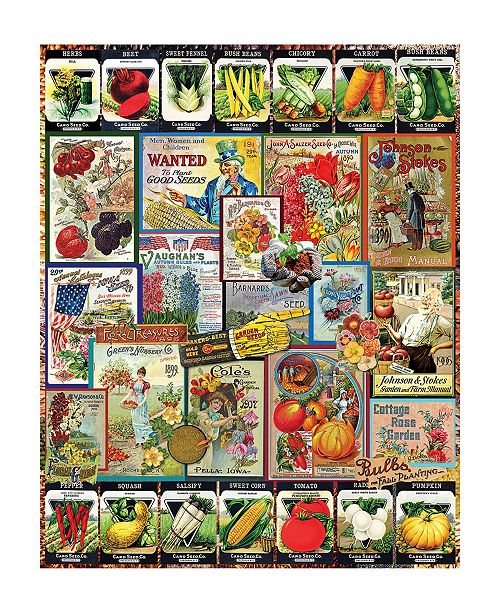 White Mountain Puzzles Garden Seeds 1000 Piece Jigsaw Puzzle