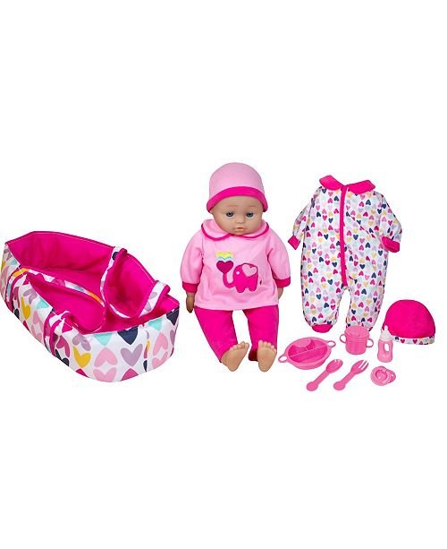 """Lissi Dolls 16"""" Talking Baby Doll with Accessories"""