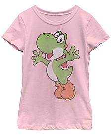 Nintendo Big Girl's Super Mario Yoshi Classic Jump Portrait Short Sleeve T-Shirt