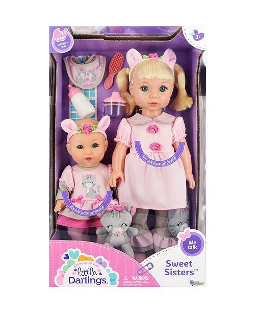 Theo Klein New Adventures Little Darlings Sweet Sisters Toy Baby Dolls Play Set