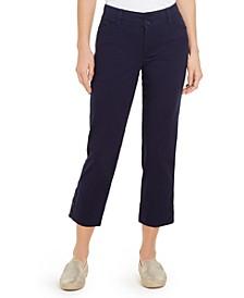 Button-Cuff Tummy Control Capri Pants, Created for Macy's
