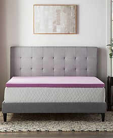 "2"" Lavender Memory Foam Mattress Topper Collection"
