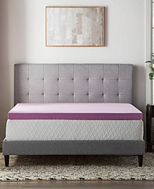 "3"" Lavender Memory Foam Mattress Topper, Queen"