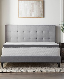 """3"""" Bamboo Charcoal Memory Foam Topper Collection"""
