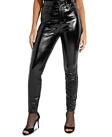 Petra High Rise Faux-Leather Jeans