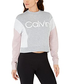 Colorblocked Logo Fleece-Lined Top