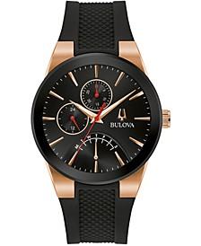Men's Futuro Black Silicone Strap Watch 41mm