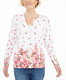 Petite Darling Dream Floral-Print Cardigan, Created for Macy's