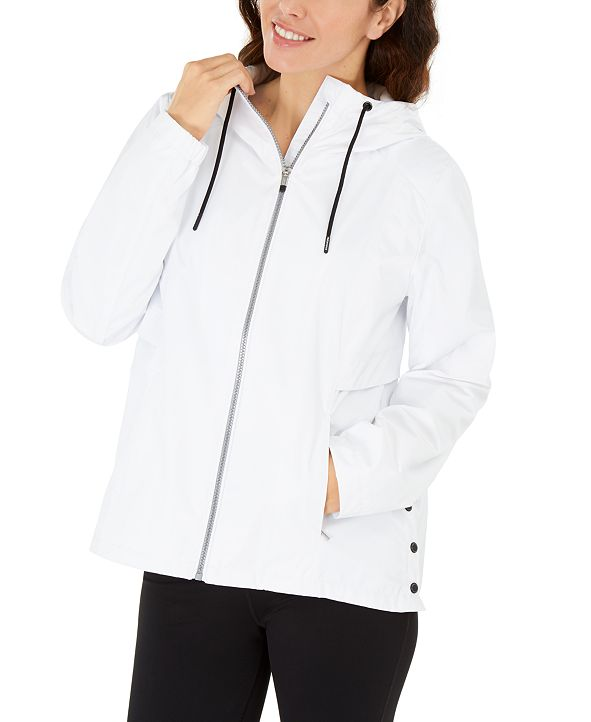 Calvin Klein Hooded Side-Snap Jacket