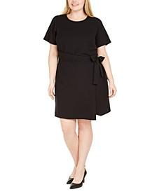 Plus Size Faux-Wrap T-Shirt Dress