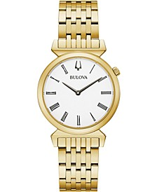 Women's Regatta Gold-Tone Stainless Steel Bracelet Watch 30mm