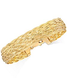 Braided Link Bracelet in 18k Gold-Plated Sterling Silver, Created for Macy's