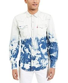 Men's Standard Barstow Western Bleached Denim Shirt