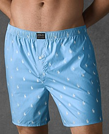 Men's Underwear, Allover Pony Woven Boxers
