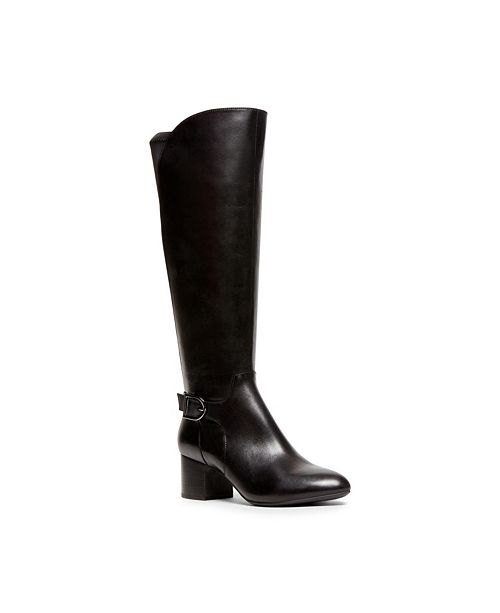 Anne Klein Honesty Wide Calf Buckle Boots