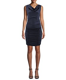 Ruched Cowlneck Dress