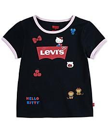 x Hello Kitty Little Girls Cotton Ringer T-Shirt