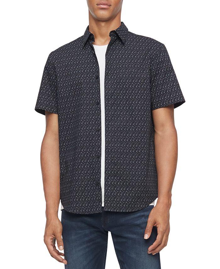 Calvin Klein - Men's Regular-Fit Stretch Geo-Print Shirt