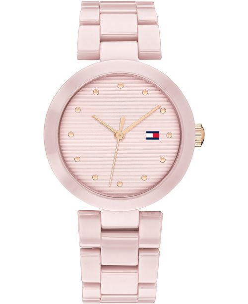 Tommy Hilfiger Women's Blush Ceramic Bracelet Watch 32mm, Created For Macy's
