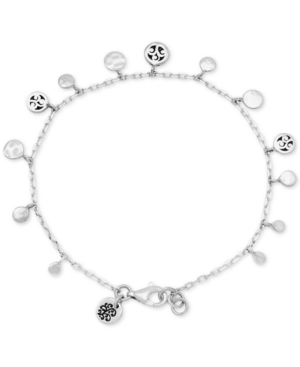 Mini Disc Charm Bracelet in Sterling Silver