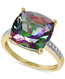 Mystic Topaz (8 ct. t.w.) & Diamond (1/20 ct. t.w.) Ring in 14k Gold
