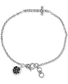 East-West Cross Link Bracelet in Sterling Silver