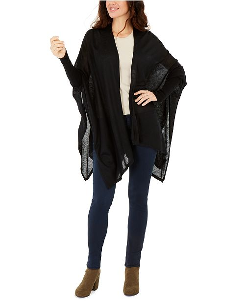 INC International Concepts INC Knit Topper With Sleeves, Created For Macy's