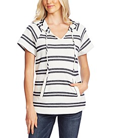 Striped Drop-Shoulder Hoodie