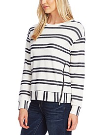 Striped Side-Zip Pullover