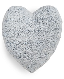 CLOSEOUT! Sherpa Heart Decorative Pillow, Created for Macy's