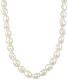 "Cultured Keshi White Freshwater Pearl (8-11mm) 18"" Collar Necklace"