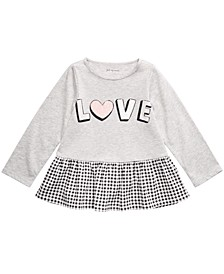 Baby Girls Love Peplum Top, Created For Macy's
