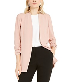 Ruched-Sleeve Open-Front Blazer, Created For Macy's
