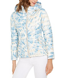 Tie-Dye Hooded Packable Puffer Jacket