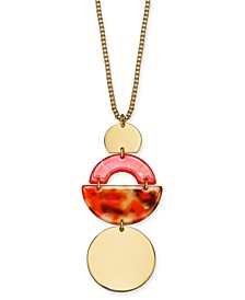 "Tortoise-Look Geometric 36"" Pendant Necklace, Created for Macy's"