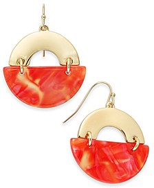 Gold-Tone & Marble-Look Drop Earrings, Created for Macy's
